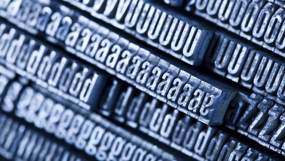 Die Grundlagen der Typografie anwenden