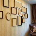 Leere Bilderrahmen an einer Wand
